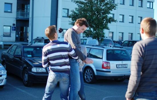 Reinertsen spiller basse på jobben. Her fra Piren i Trondheim.